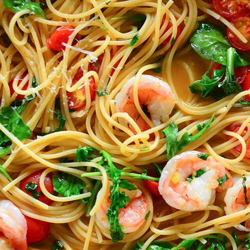 Shrimp and Whole Wheat Pasta
