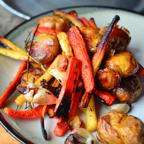 Roasted Carrots, Potatoes & Parsnips
