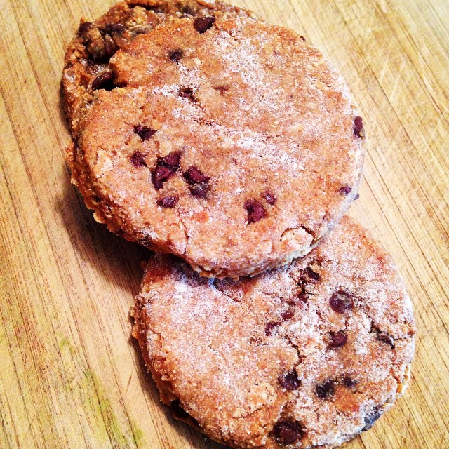 A healthy chocolate chip cookie? Only 4 ingredients, and yummy!  ...
