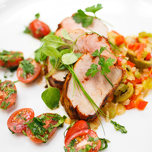 Spanish Pork Tenderloin with Sofrito